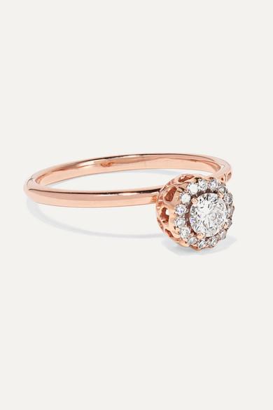 SELIM MOUZANNAR   Selim Mouzannar - Beirut 18-karat Rose Gold Diamond Ring - 54.5   Goxip