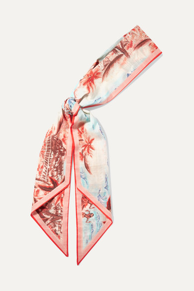 印花纯棉头巾 by Zimmermann