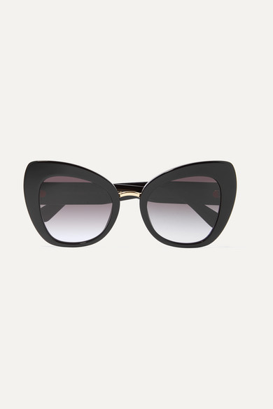 8505a858feb Dolce   Gabbana. Oversized cat-eye acetate and gold-tone sunglasses