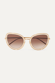 Dolce & Gabbana Cat-eye gold-tone sunglasses