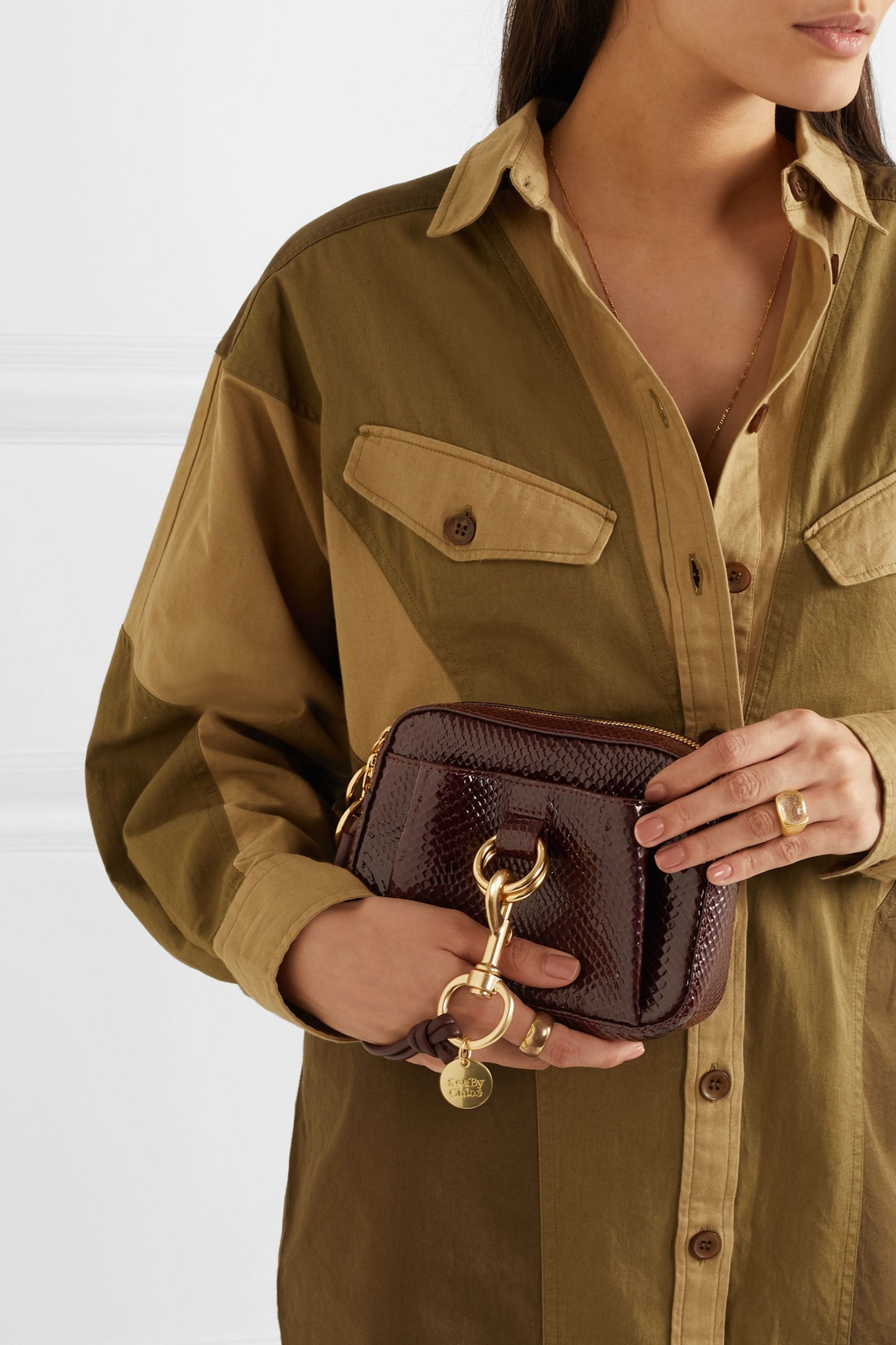 See By Chloé Tony snake-effect leather belt bag