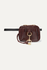 Tony snake-effect leather belt bag