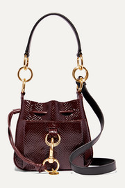 Tony small snake-effect leather bucket bag