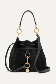 See By Chloé Tony suede and textured-leather bucket bag