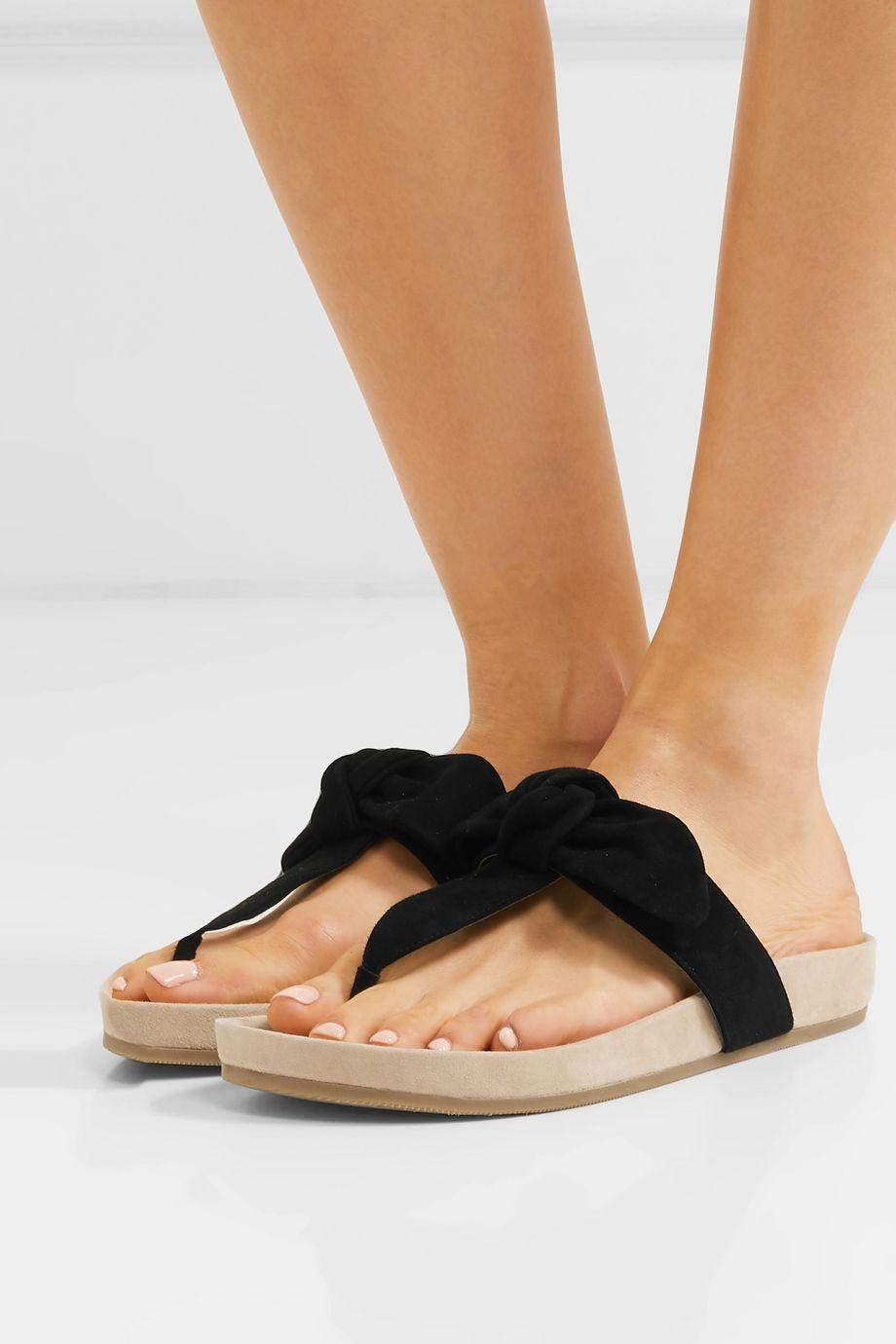 Loeffler Randall Adriana bow-detailed suede sandals