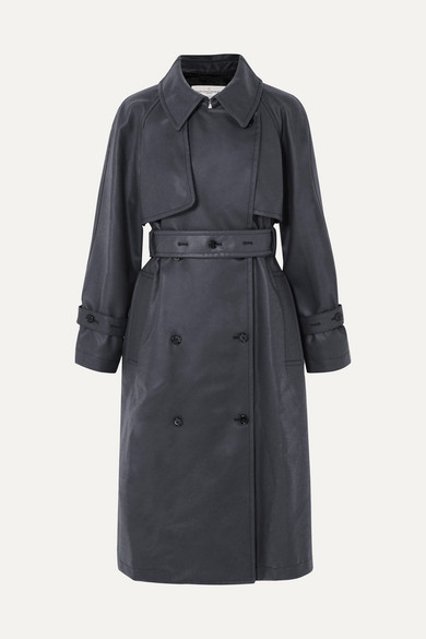 Masami belted faux leather trench coat