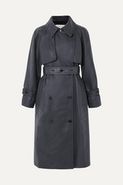 Golden Goose Masami belted faux leather trench coat