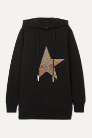 Golden Goose Hikaru oversized embroidered cotton-blend jersey hoodie