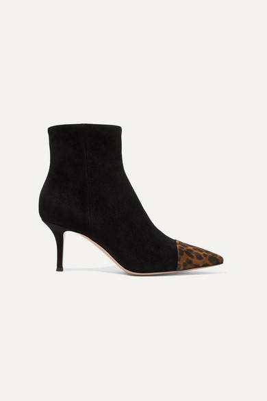 70 Two Tone Suede Ankle Boots by Gianvito Rossi