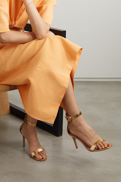 Portofino 85 metallic leather sandals