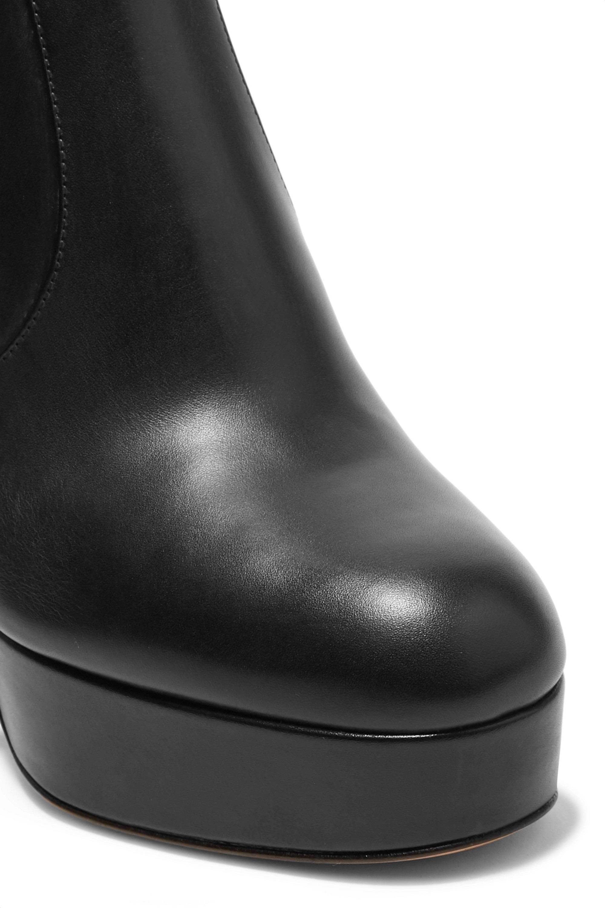 Gianvito Rossi 100 leather platform ankle boots