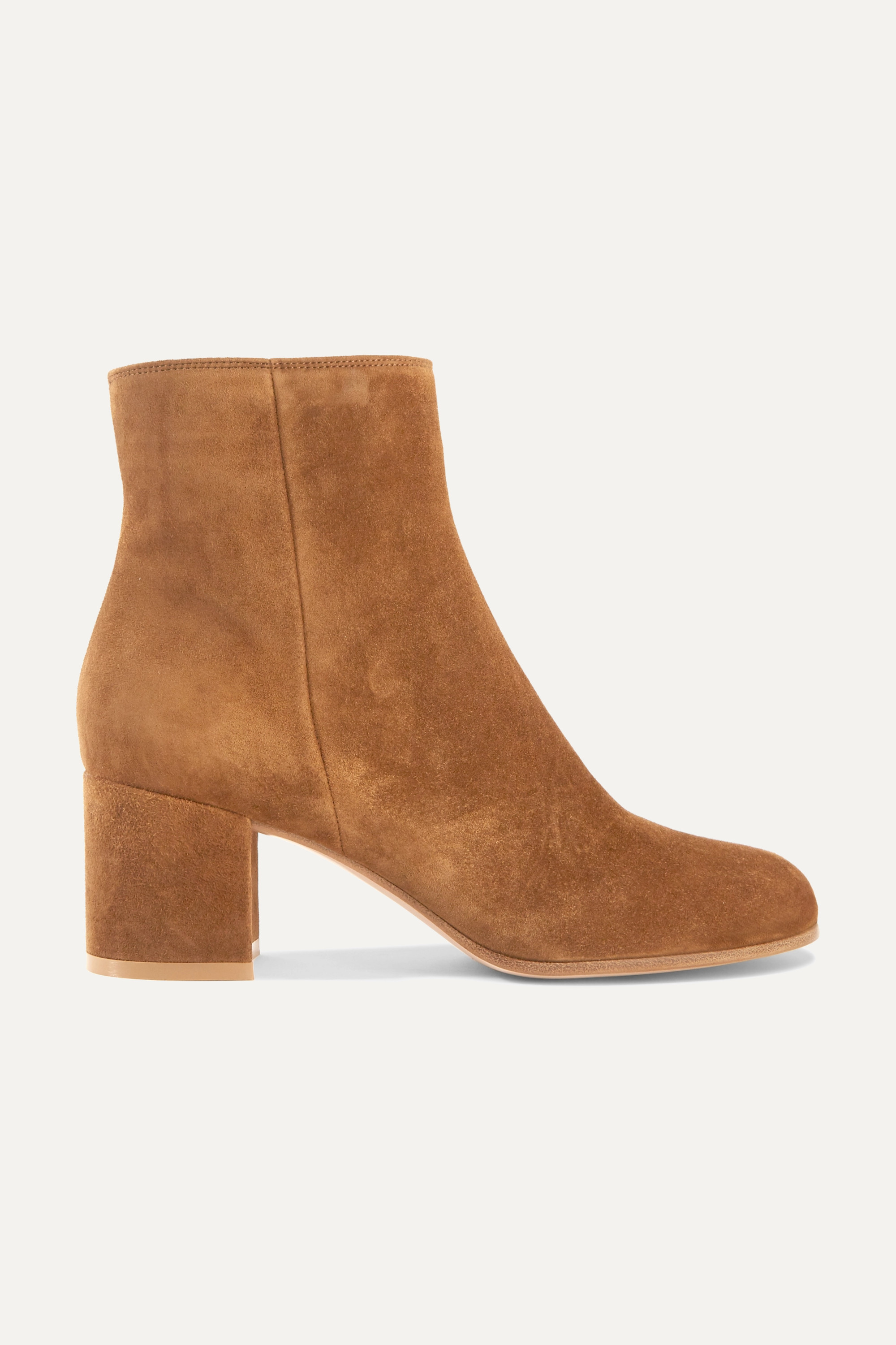 Tan Margaux 65 suede ankle boots