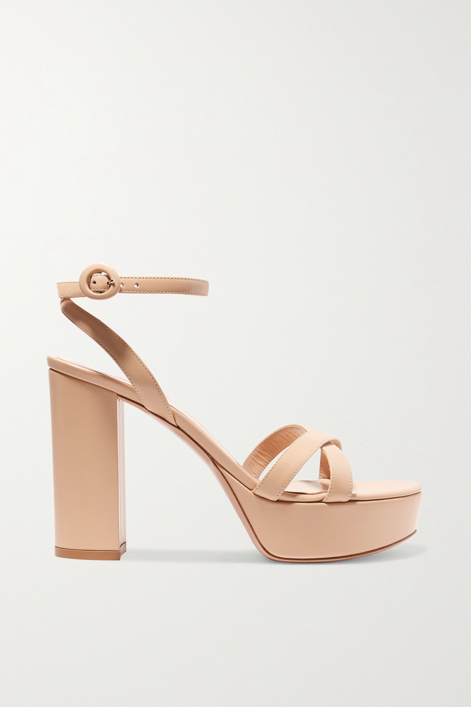 Gianvito Rossi Poppy 70 leather platform sandals