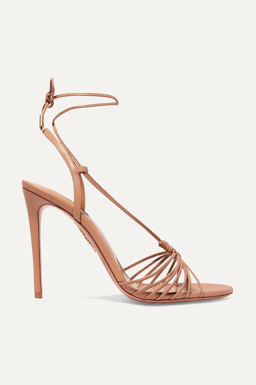 Aquazzura Whisper 105 leather sandals