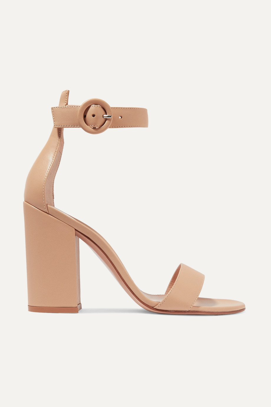 Gianvito Rossi Versilia 100 leather sandals