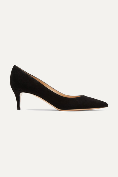GIANVITO ROSSI | Gianvito Rossi - 55 Suede Pumps - Black | Goxip