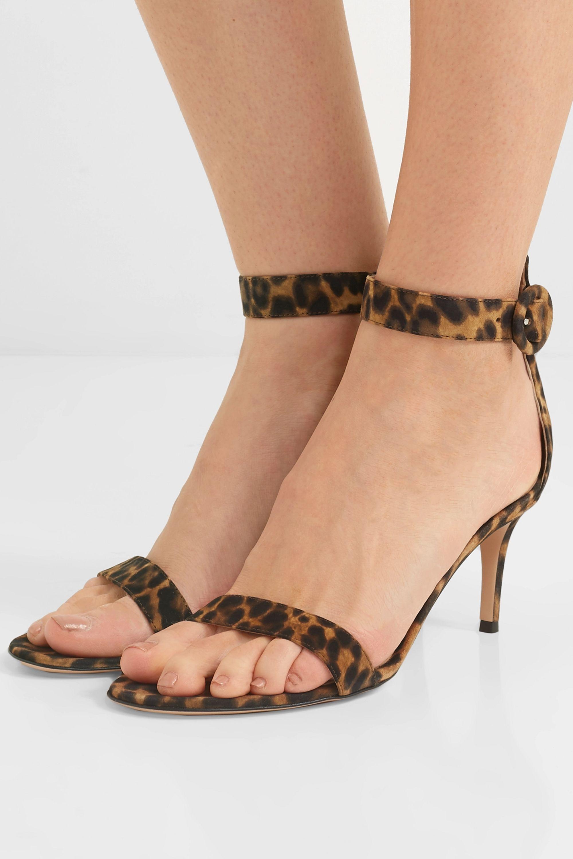 gianvito rossi leopard sandals