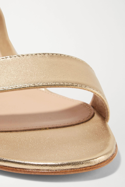 Gianvito Rossi Versilia 20 金属感皮革凉鞋