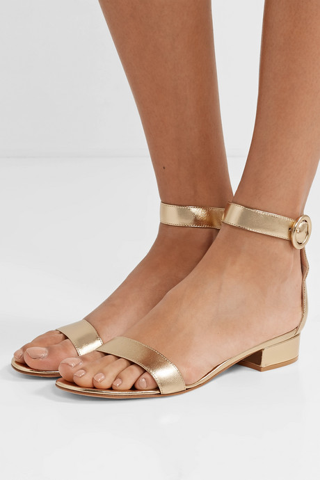 Versilia 20 metallic leather sandals