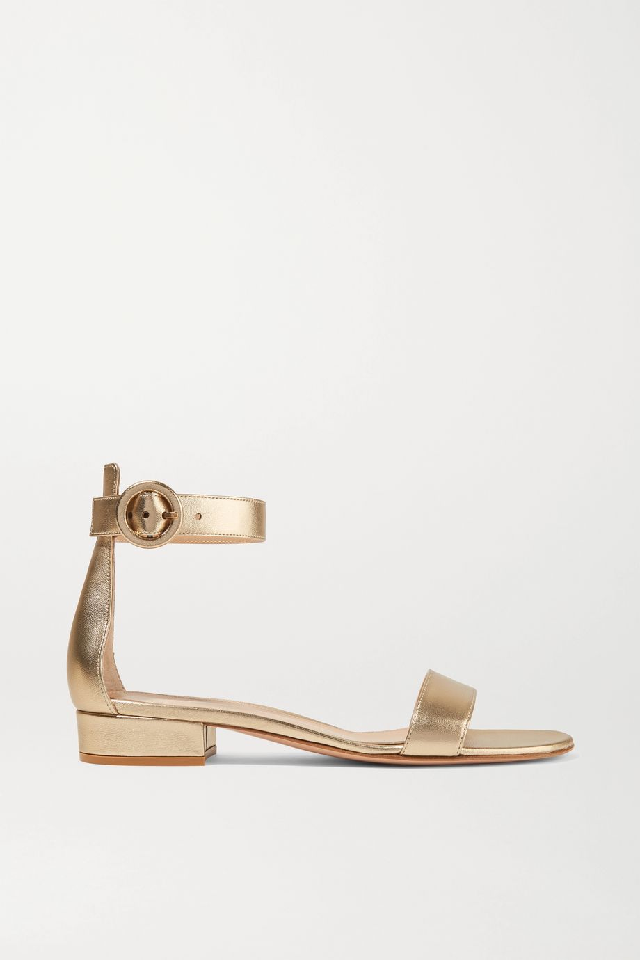 Gianvito Rossi Versilia 20 metallic leather sandals