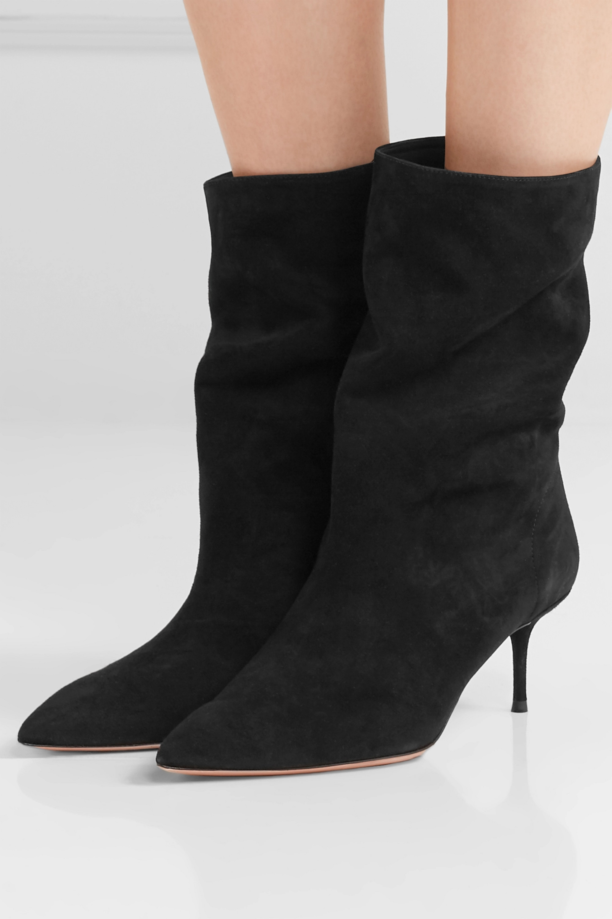 Black Very Boogie 60 suede ankle boots