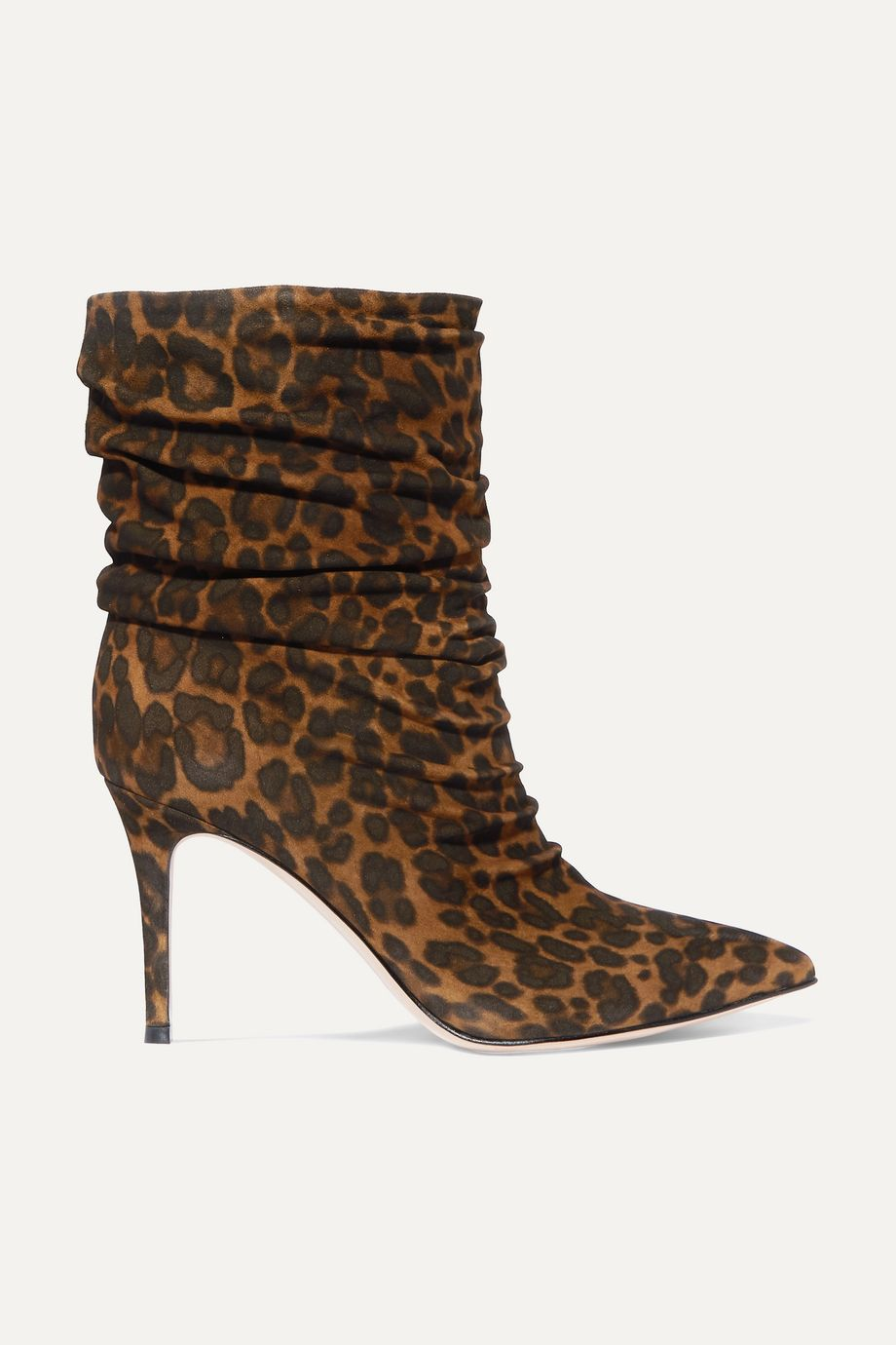 Gianvito Rossi Cecile 85 leopard-print suede ankle boots