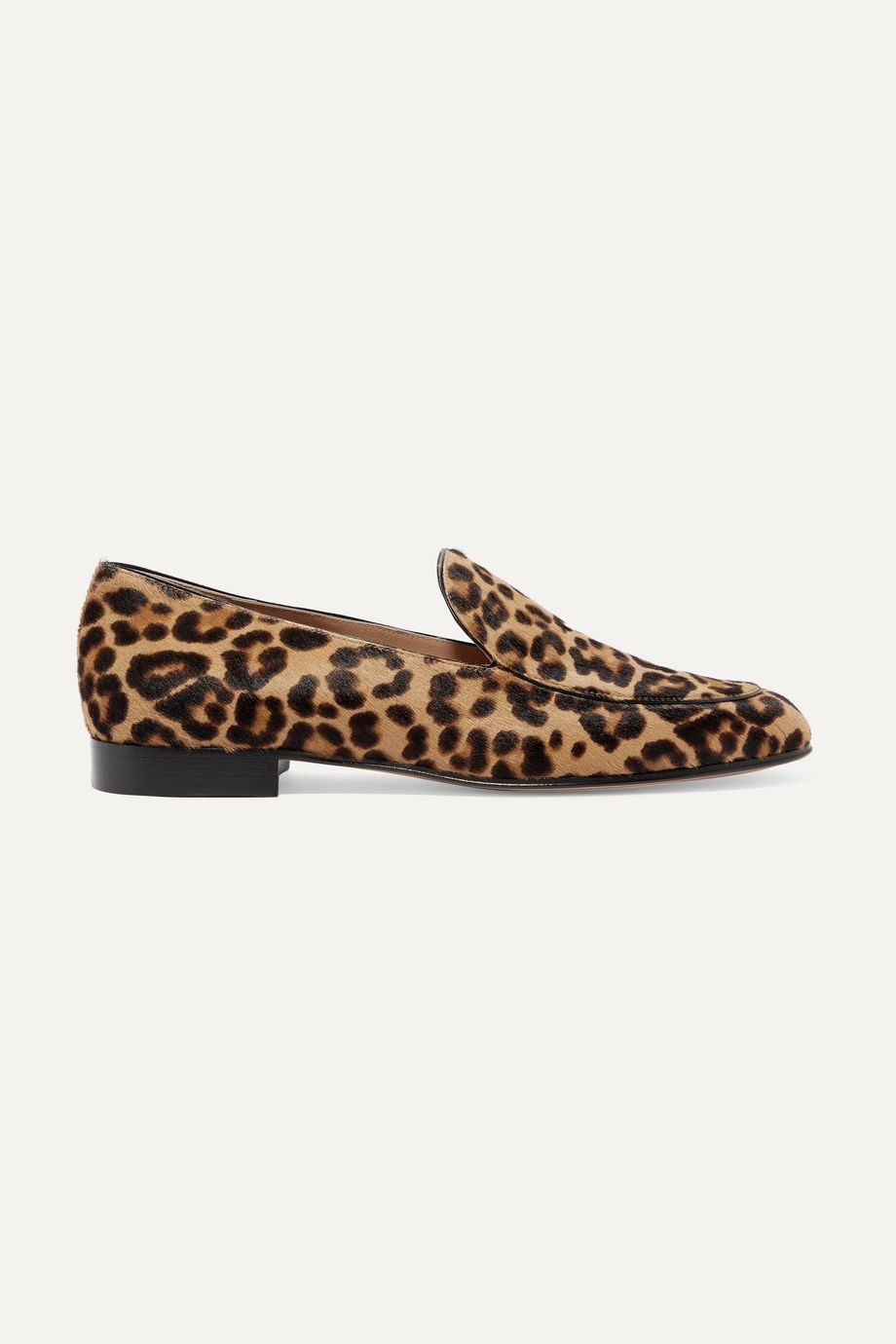 Gianvito Rossi Leopard-print calf hair loafers