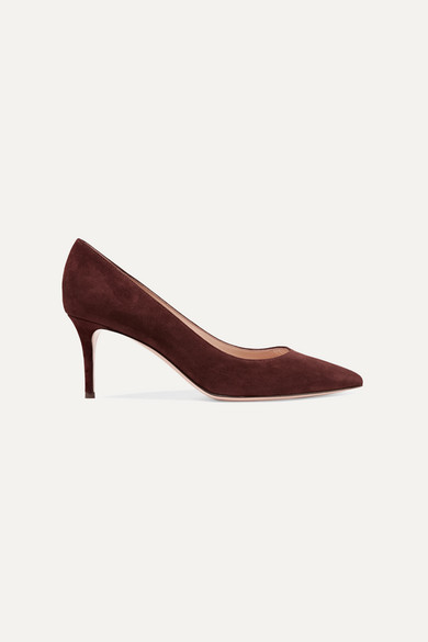 GIANVITO ROSSI | Gianvito Rossi - 70 Suede Pumps - Chocolate | Goxip