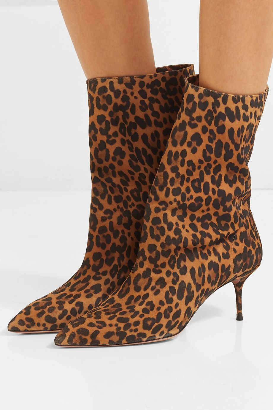 Aquazzura Very Boogie 60 leopard-print suede ankle boots