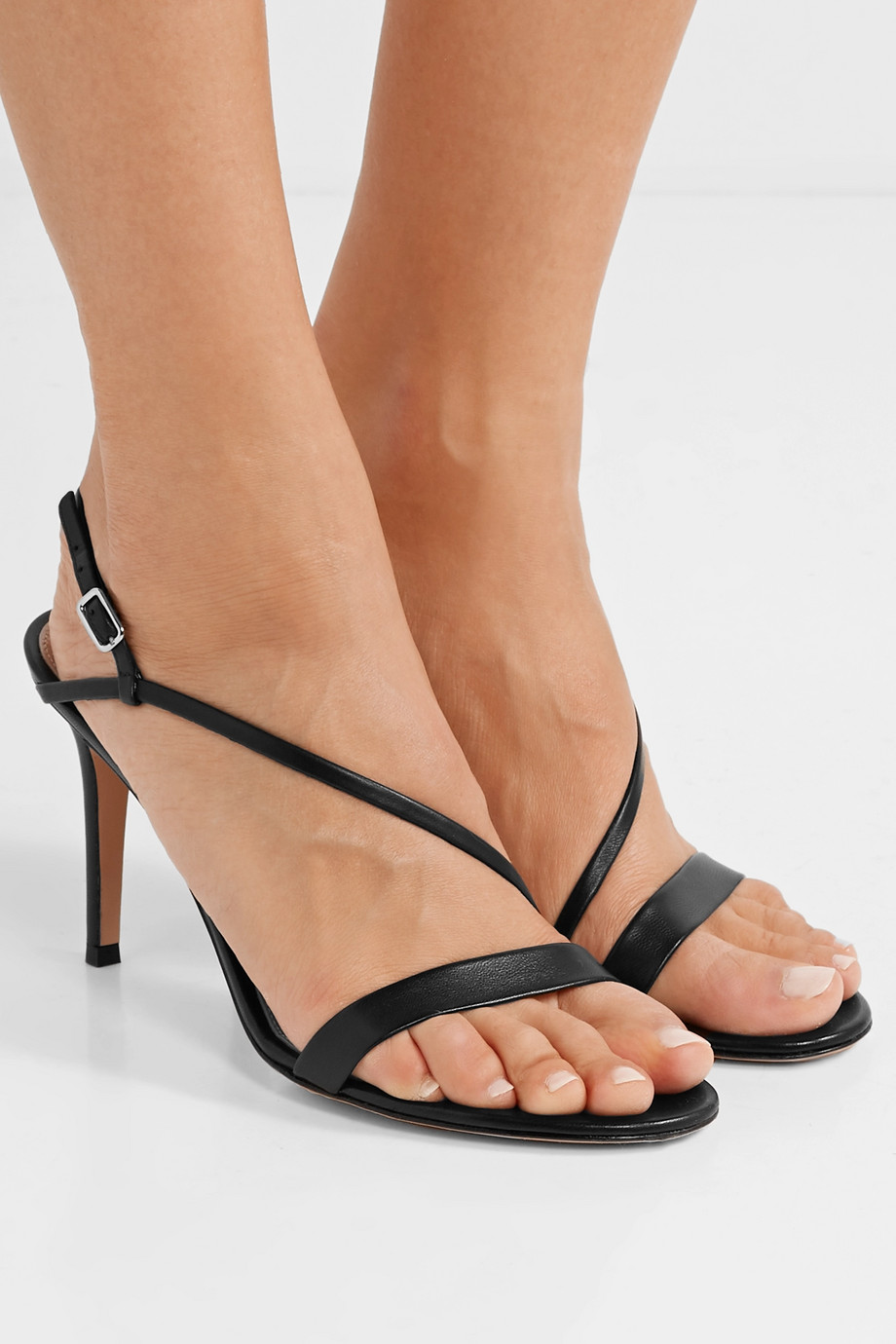 Gianvito Rossi Manhattan 85 leather sandals