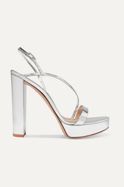 Gianvito Rossi 100 mirrored-leather platform sandals