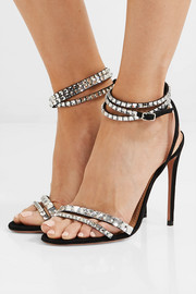 So Vera 105 crystal-embellished suede sandals