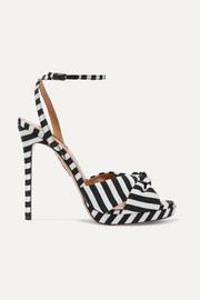 Aquazzura Chance 115 striped faille sandals