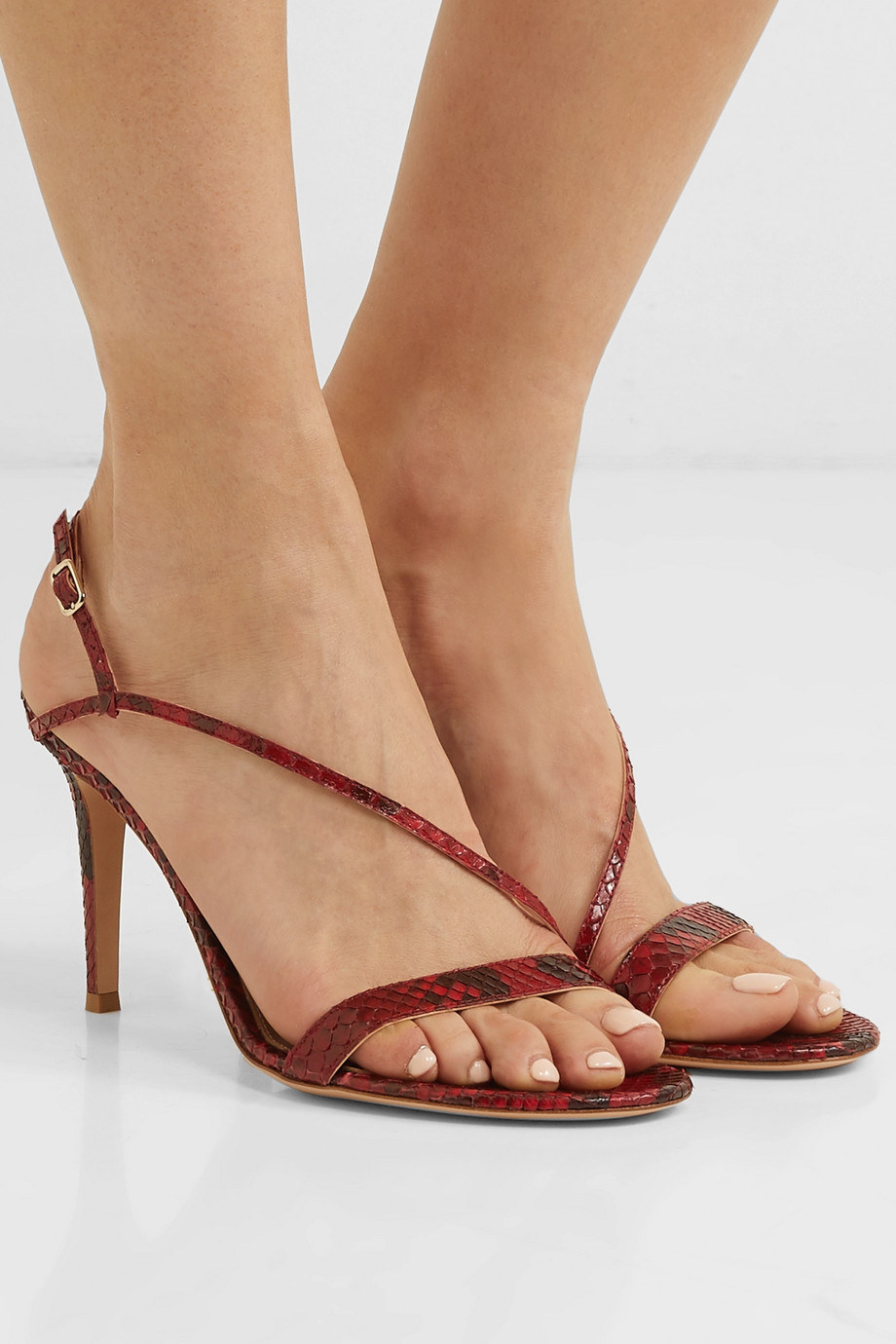 Gianvito Rossi 85 python slingback sandals