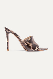 Gianvito Rossi Lyn 105 python mules