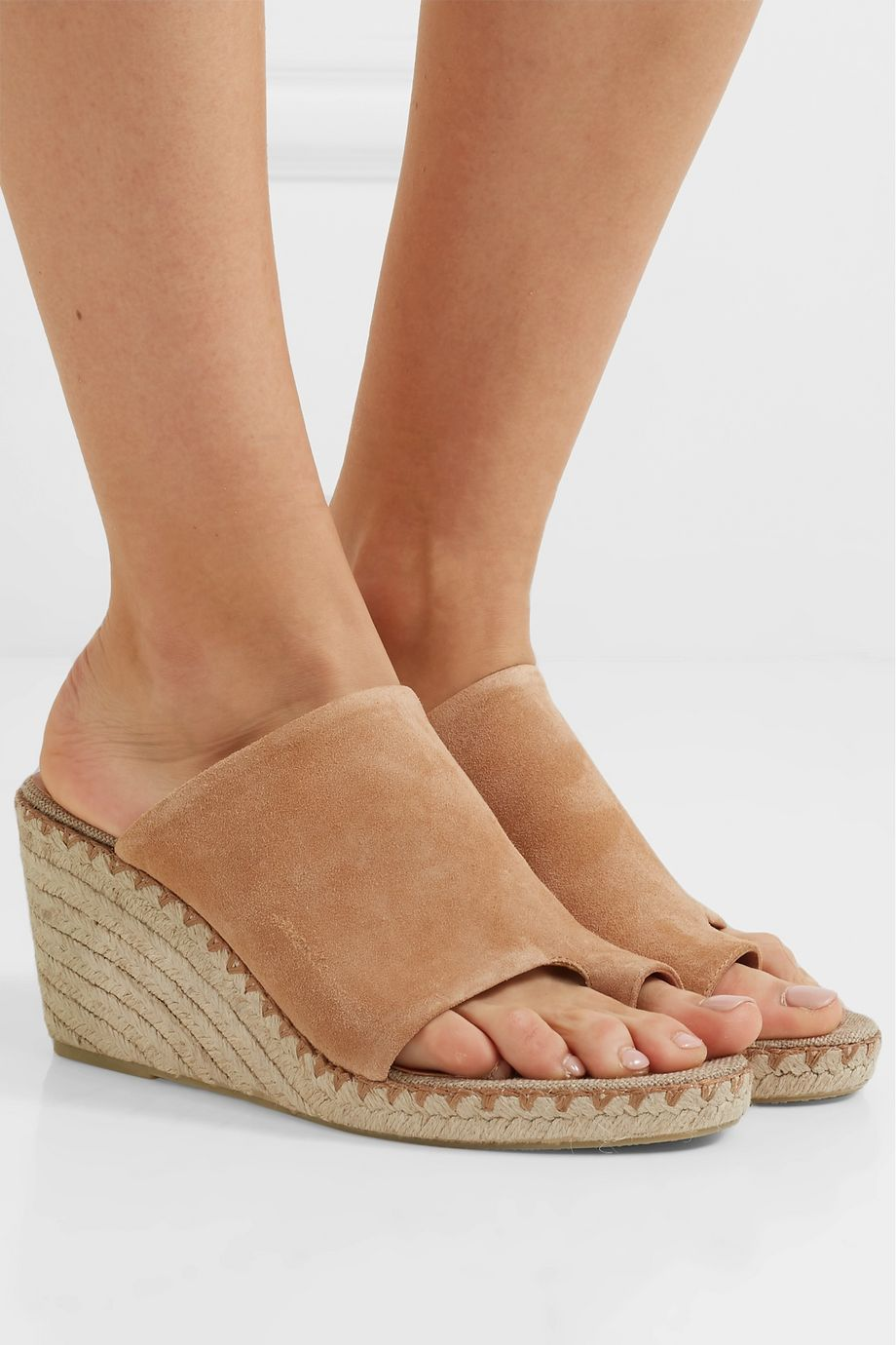 Vince Sutherland suede espadrille wedge sandals