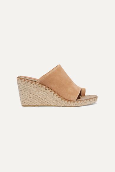 Sutherland suede espadrille wedge sandals