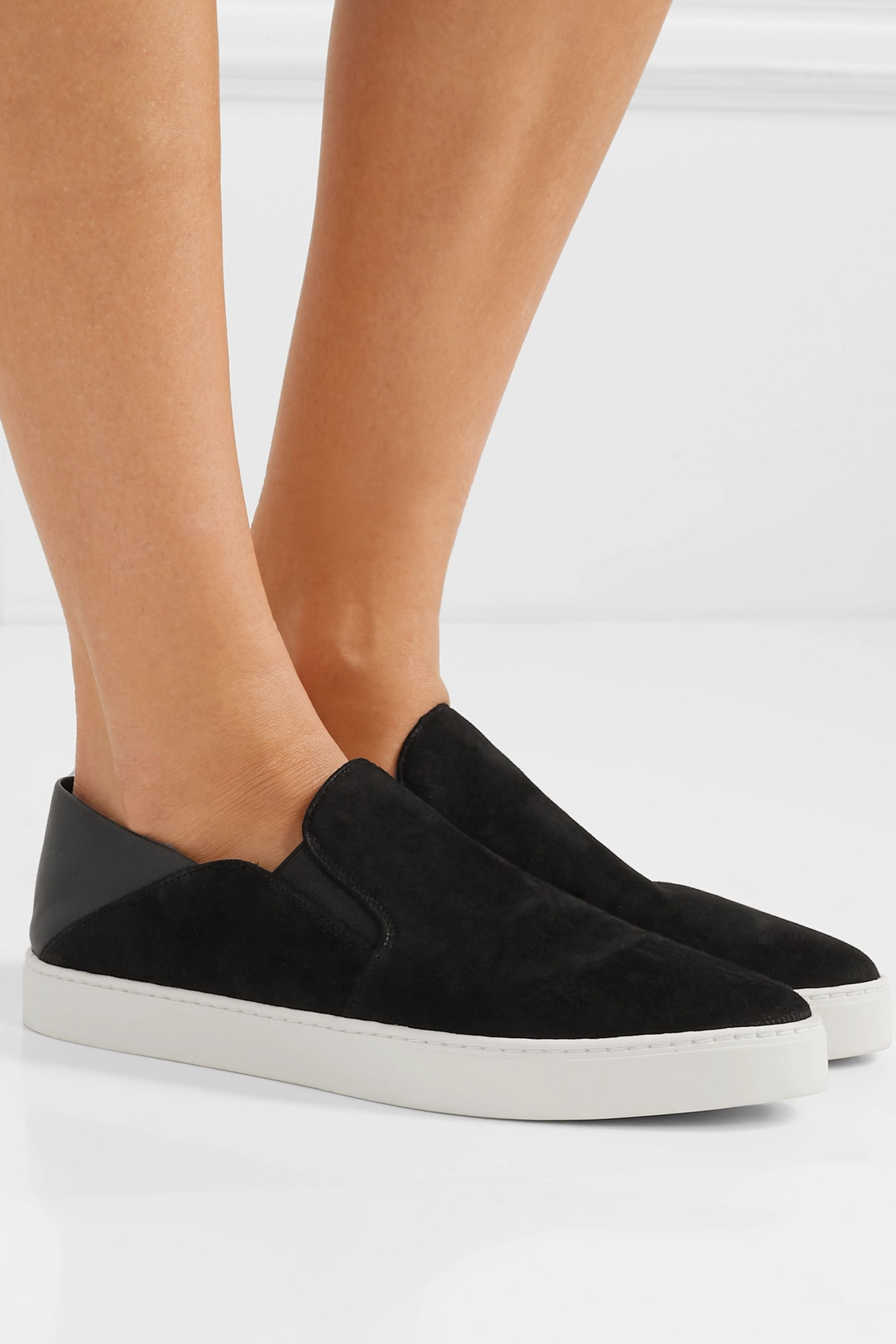 Black Garvey suede and leather