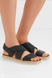 Tenison leather espadrille sandals