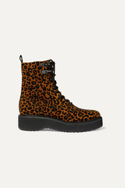 In Charge leopard-print suede ankle boots