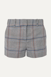 Veronica Beard Lena Prince of Wales checked cotton-blend shorts