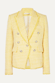 Veronica Beard Dickey double-breasted checked bouclé-tweed blazer
