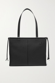 Cushion medium textured-leather tote
