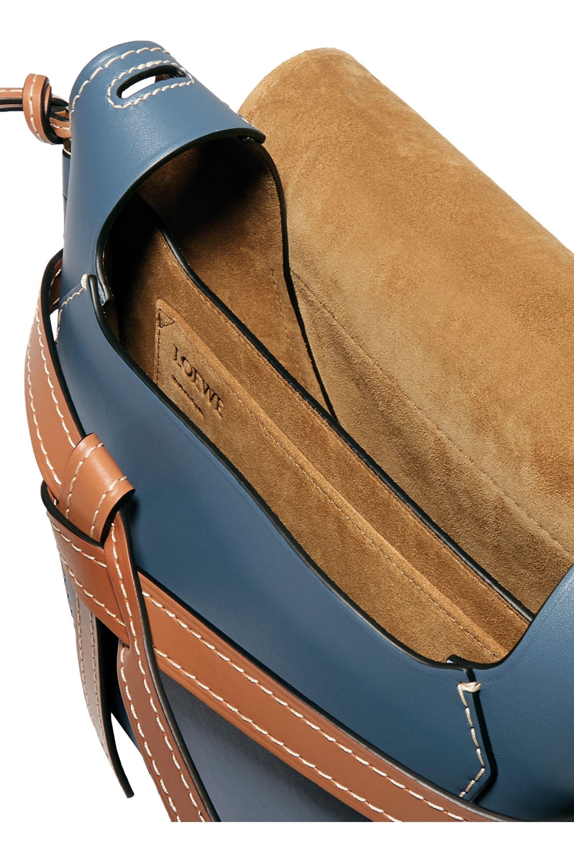 Loewe Gate kleine Schultertasche aus Leder in Colour-Block-Optik