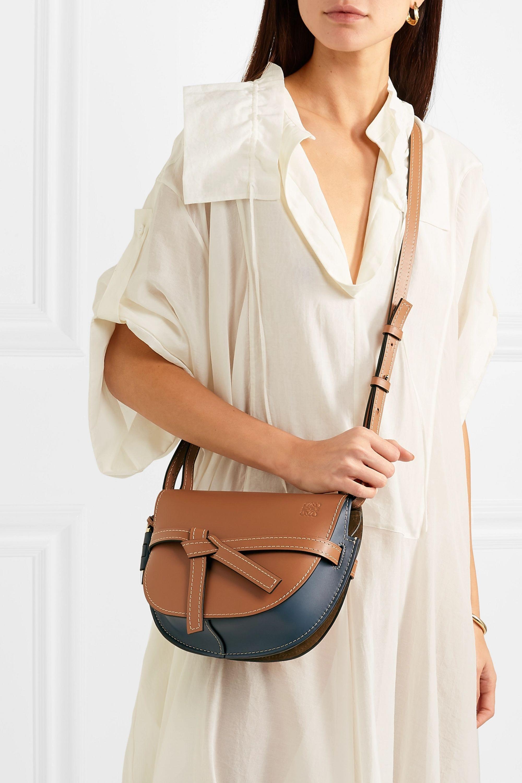 Loewe Gate small color-block leather shoulder bag