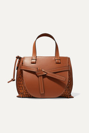 Gate woven leather tote