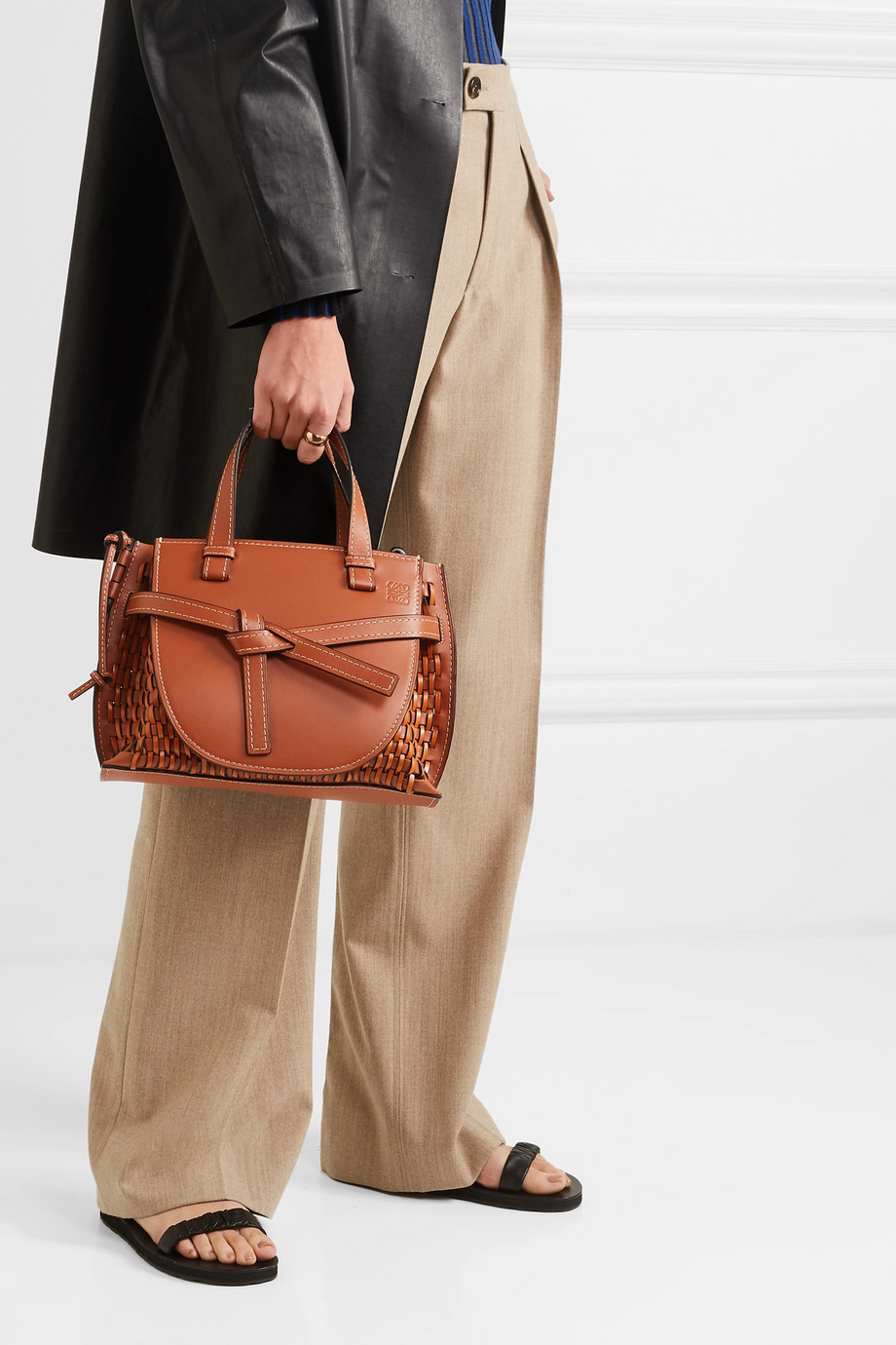 Loewe Gate woven leather tote