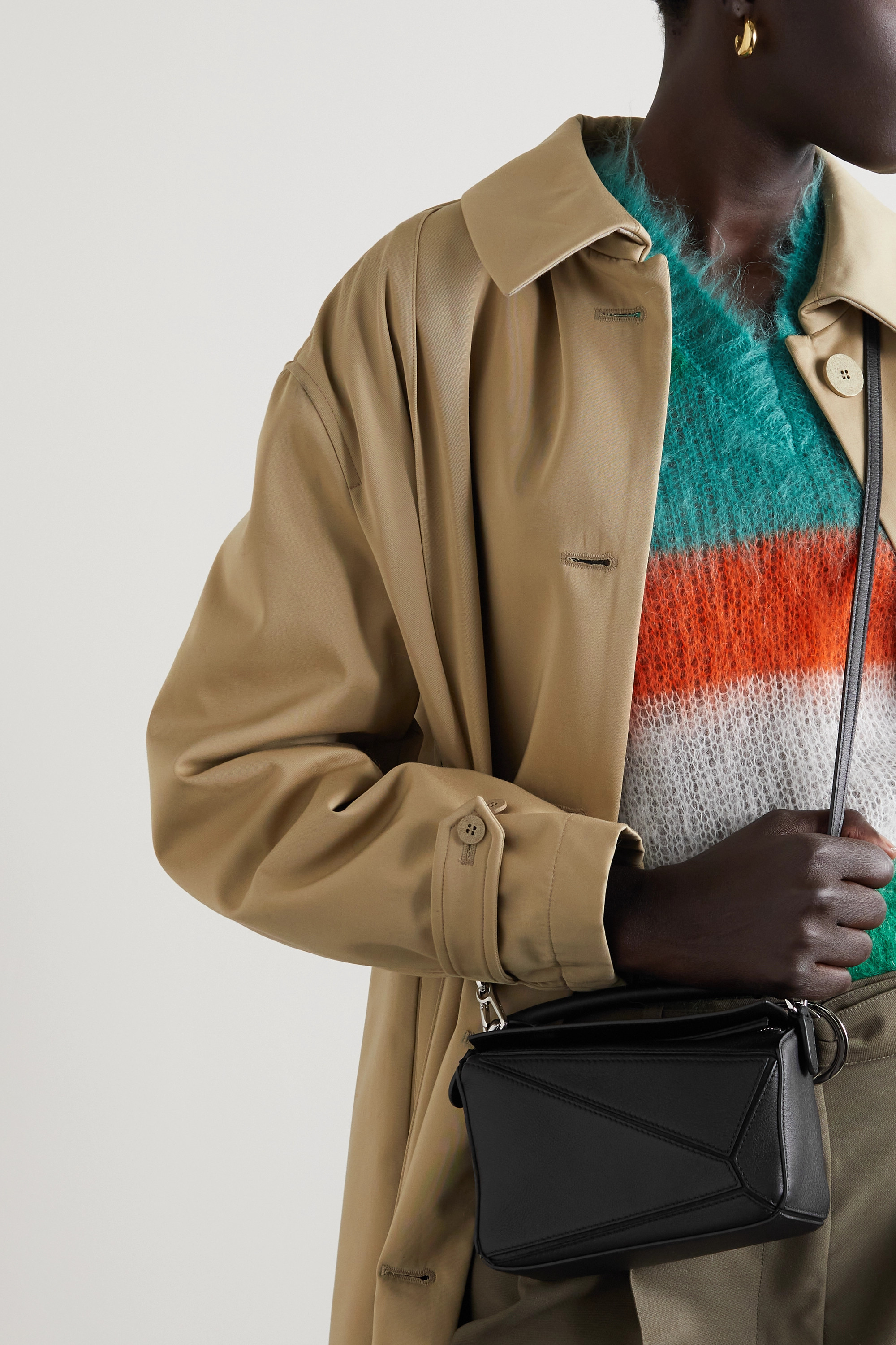 Loewe Puzzle mini textured-leather shoulder bag