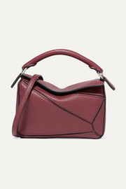 Puzzle mini textured-leather shoulder bag