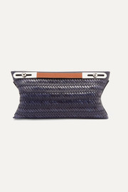 Loewe Missy small woven textured-leather shoulder bag